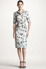 Carolina Herrera Rabbitprint Twill Shirtdress - Lyst