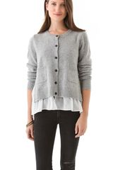 Clu Cardigan with Contrast - Lyst