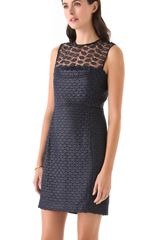 Diane Von Furstenberg Kinchu Lace Dress in Blue (navy) - Lyst