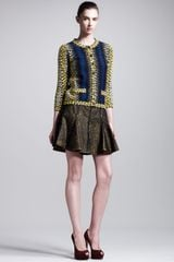 Fendi Shagreen Pattern Short Trumpet Skirt - Lyst