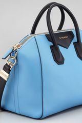 Givenchy Antigona Colorblock Medium Satchel Bag Blueblack in Blue - Lyst