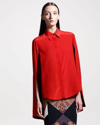 Givenchy Hanging Sleeve Blouse - Lyst