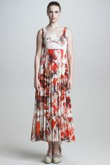 Jean Paul Gaultier Tiered Floral Maxi Dress - Lyst