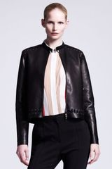 Lanvin Whipstitched Leather Jacket - Lyst