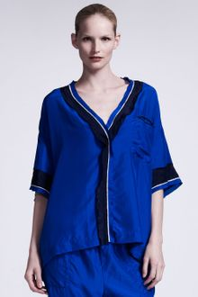 Lanvin Silk Satin Pajama Top - Lyst