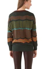 M Missoni Dot Stripe Pullover in Green - Lyst