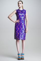 Marc Jacobs Sleeveless Sequined Sheath Dress - Lyst