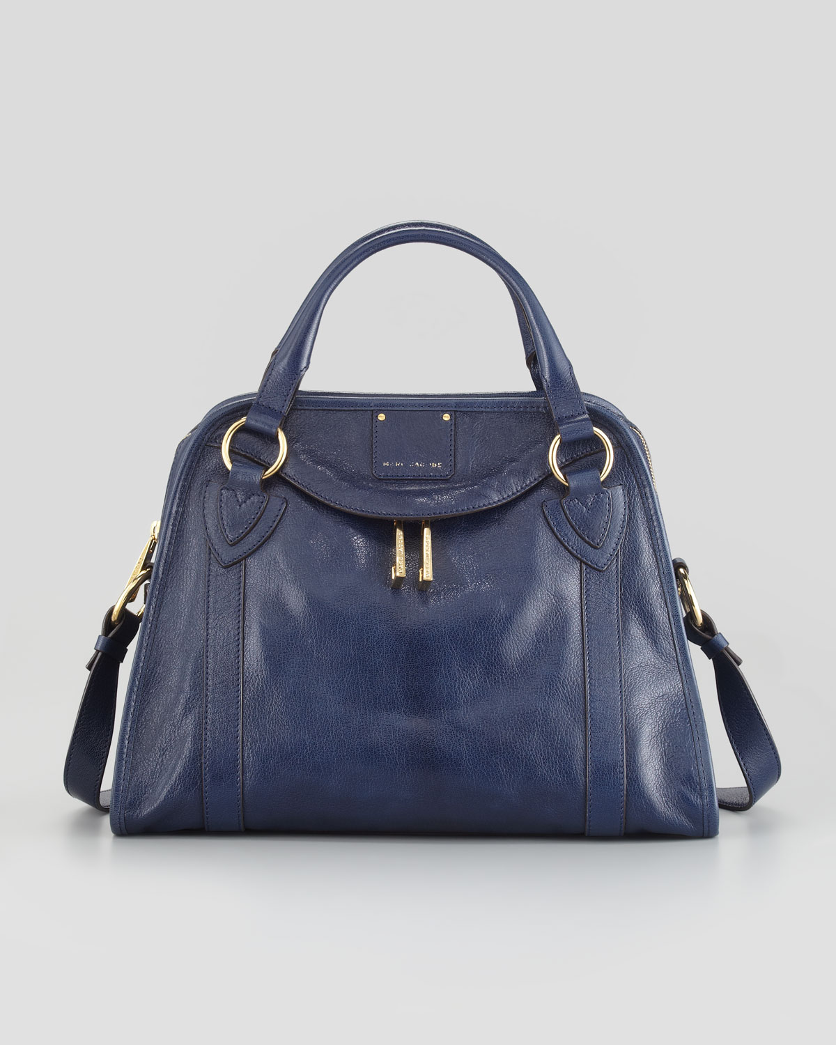 Marc jacobs Classic Wellington Satchel Bag Navy in Blue | Lyst