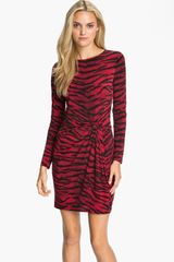 Michael by Michael Kors Knot Front Dress - Lyst