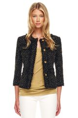 Michael Kors Metallic Tweed Jacket - Lyst