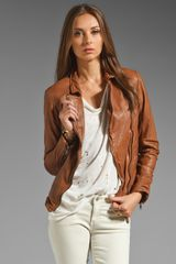 Muubaa Kendyll Leather Biker Jacket - Lyst