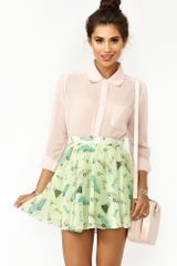 Nasty Gal Sandy Skater Skirt - Lyst