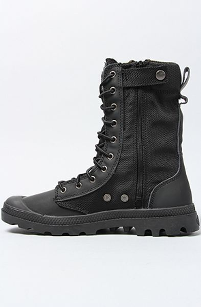 Palladium The Pampa Tactical Boot In Black In Black For