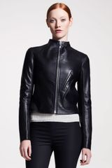 The Row Womens Leather Motorcycle Jacket - Lyst