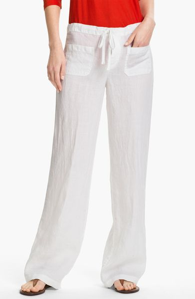 Simple Sexy Women White Lace Beach Pants For Summer