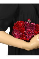 Alexander Mcqueen Box Clutch Raso Setaricam in Red (s) - Lyst