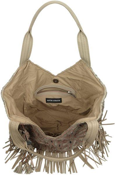 Antik Batik Galle Fringed Leather Tote In Brown Lyst