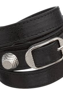 Balenciaga Arena Giant Nickel Double Tour Bracelet - Lyst