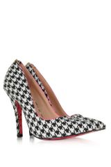 Betsey Johnson Taylr Black and White Houndstooth Pump - Lyst
