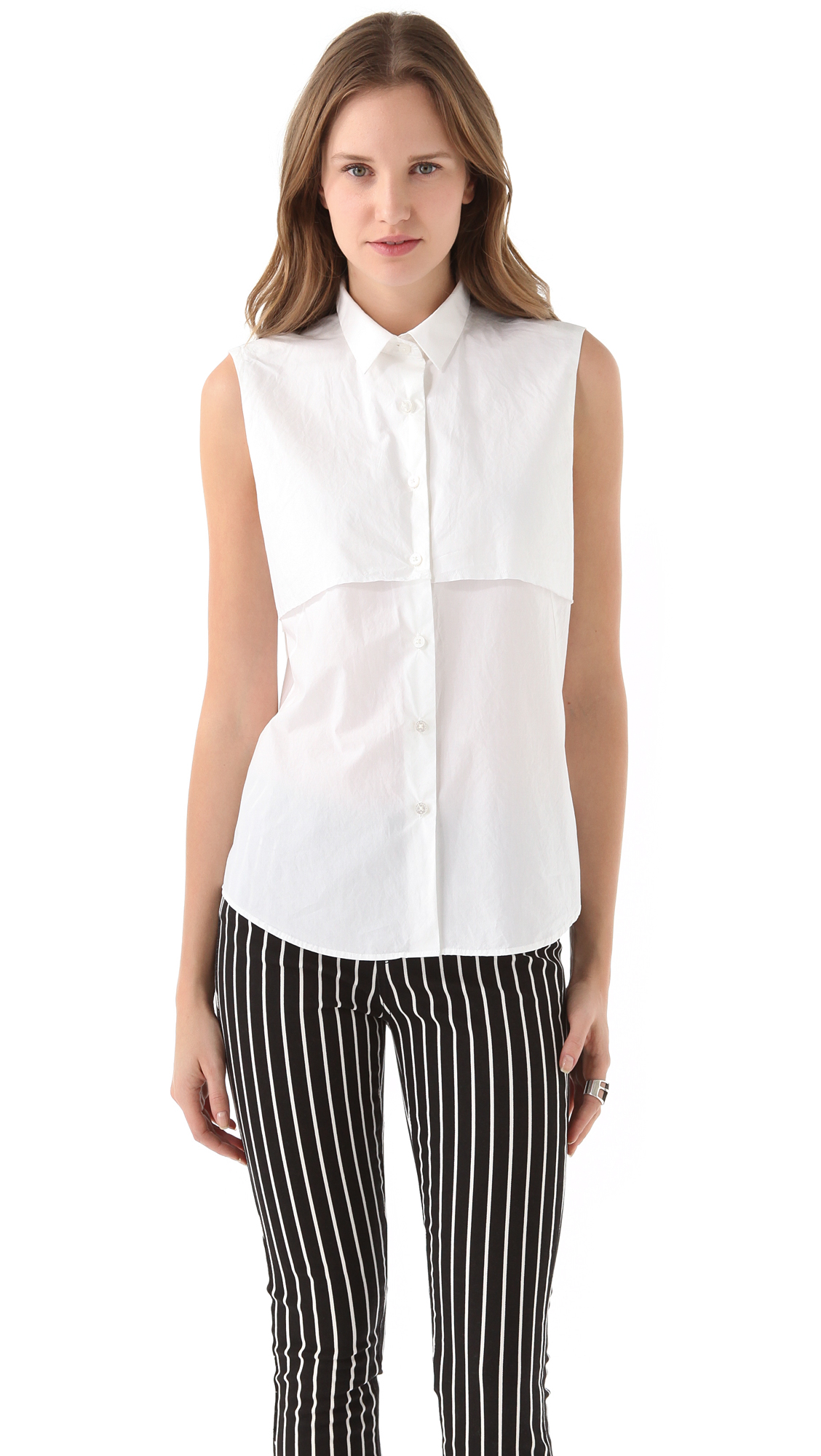 Cheap monday clean cut shirt in white lyst for How to clean white dress shirts