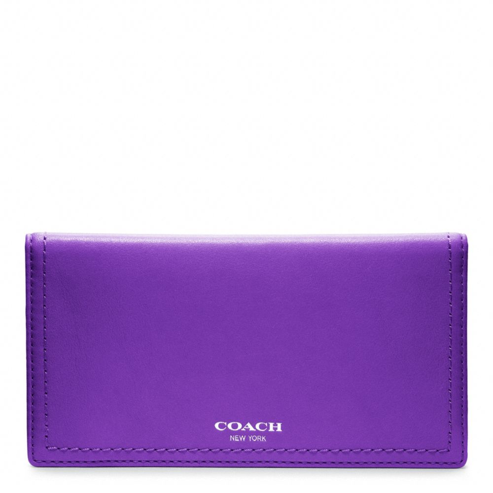 Lyst Coach Legacy Leather Checkbook Cover In Purple