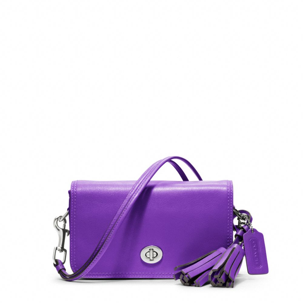 Lyst Coach Legacy Leather Penny Shoulder Purse In Purple