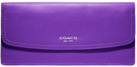 Coach Legacy Leather Soft Wallet in Purple (silver/ultraviolet)