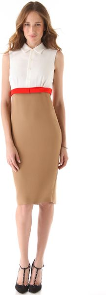 Dsquared2 Babette Dress in Brown (camel) - Lyst