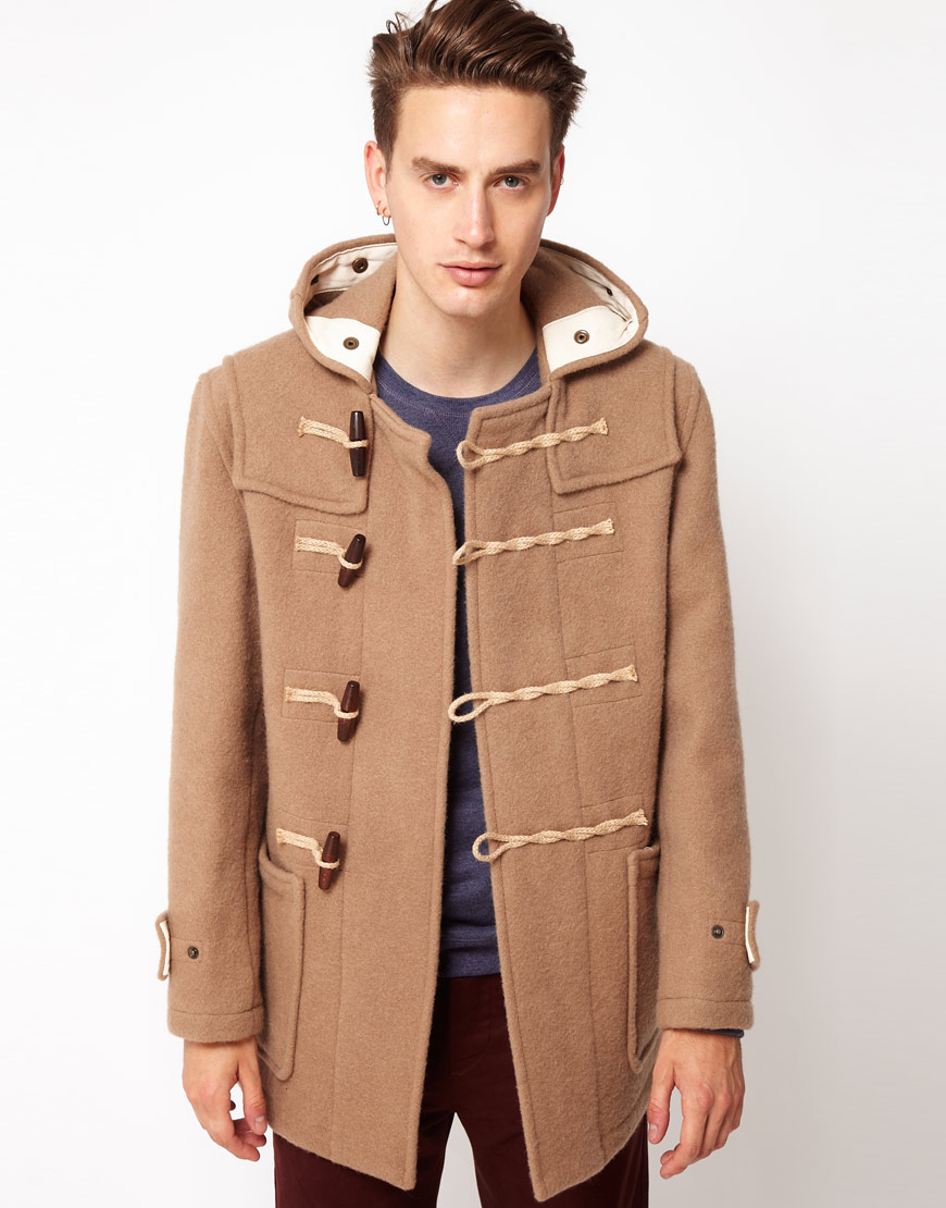 Gloverall Made in London Bolied Wool Short Monty Duffle Coat in ...