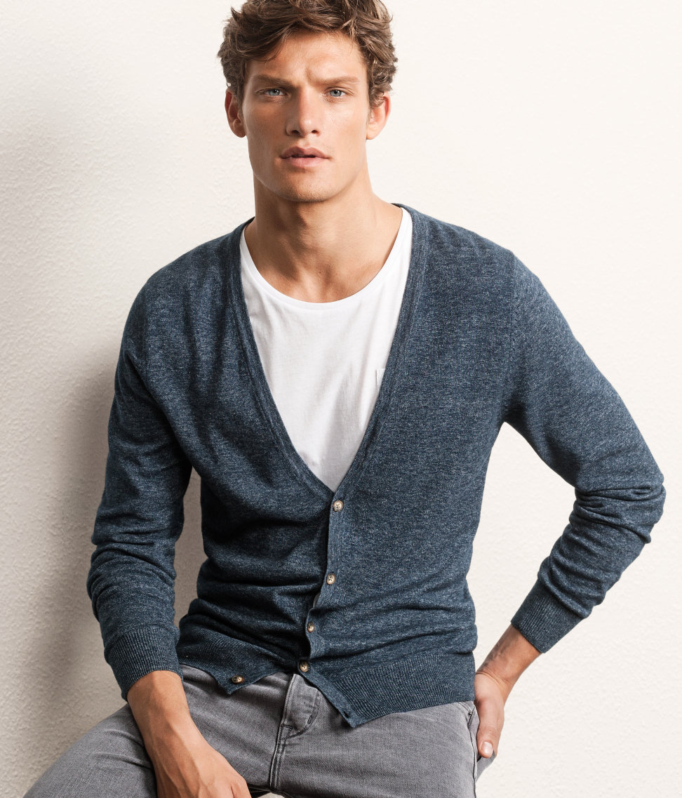 H&m Cardigan in Gray for Men