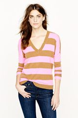 J.Crew Collection Cashmere Boyfriend Sweater in Stripe - Lyst