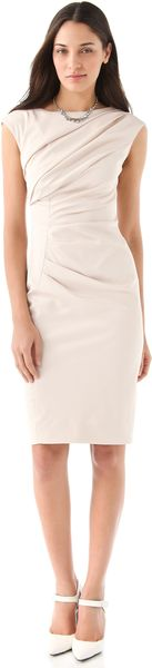 Lela Rose Draped Boat Neck Dress - Lyst
