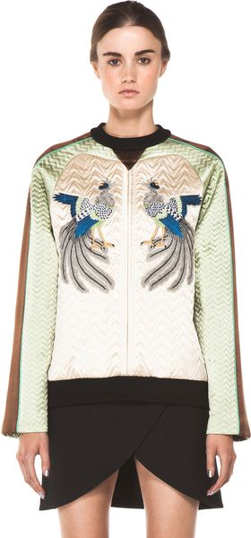 Proenza Schouler Quilted Bird Sweatshirt in Bone - Lyst