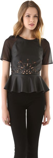 Three Floor Tough Love Peplum Top - Lyst