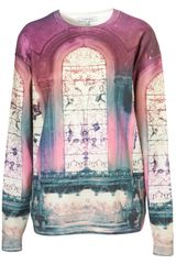Topshop Digital Sweater By Illustrated People