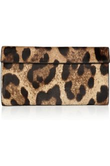 Alaïa Leopardprint Calf Hair Clutch - Lyst