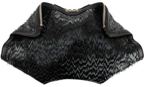 Alexander Mcqueen De Manta Clutch in Gray - Lyst
