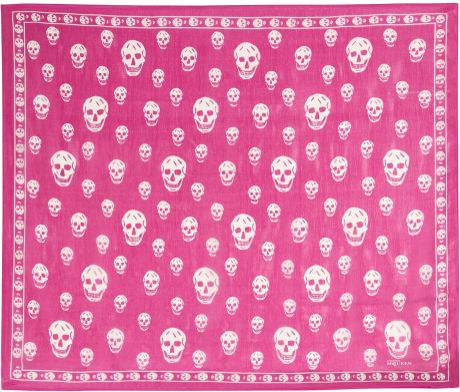 Alexander Mcqueen Skullprint Silkchiffon Scarf in Purple (red) - Lyst