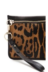 Alexander Wang Prisma Haircalf Pouchette in Brown (natural) - Lyst