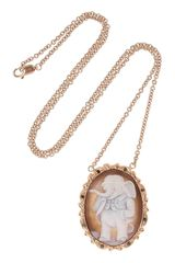 Amedeo Gold Silver Sardonyx Shell and Diamond Elephant Cameo Necklace - Lyst