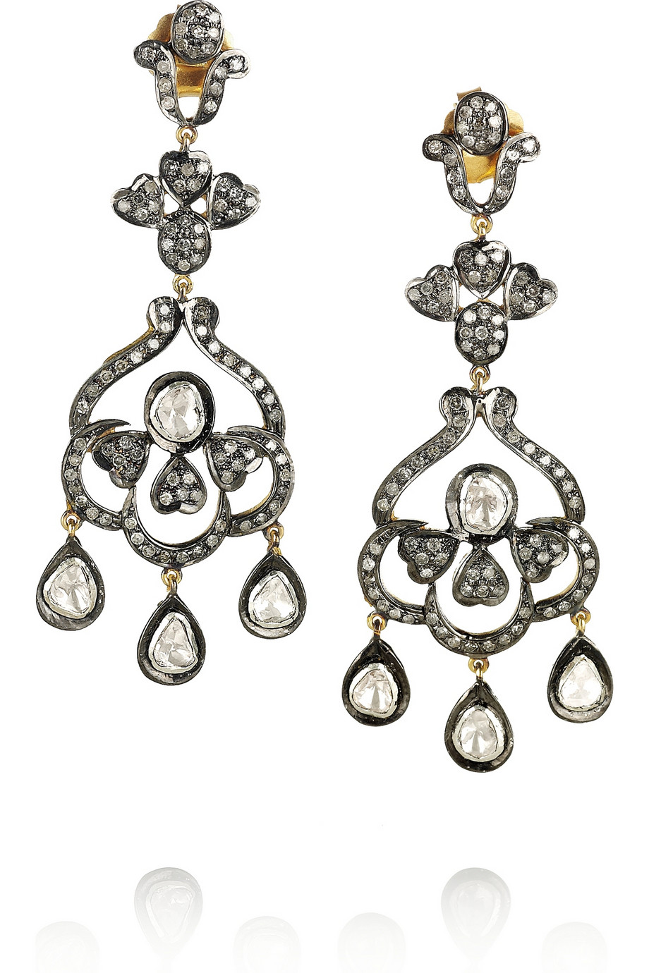Artisan Earrings : Lyst artisan sterling silver diamond earrings in metallic