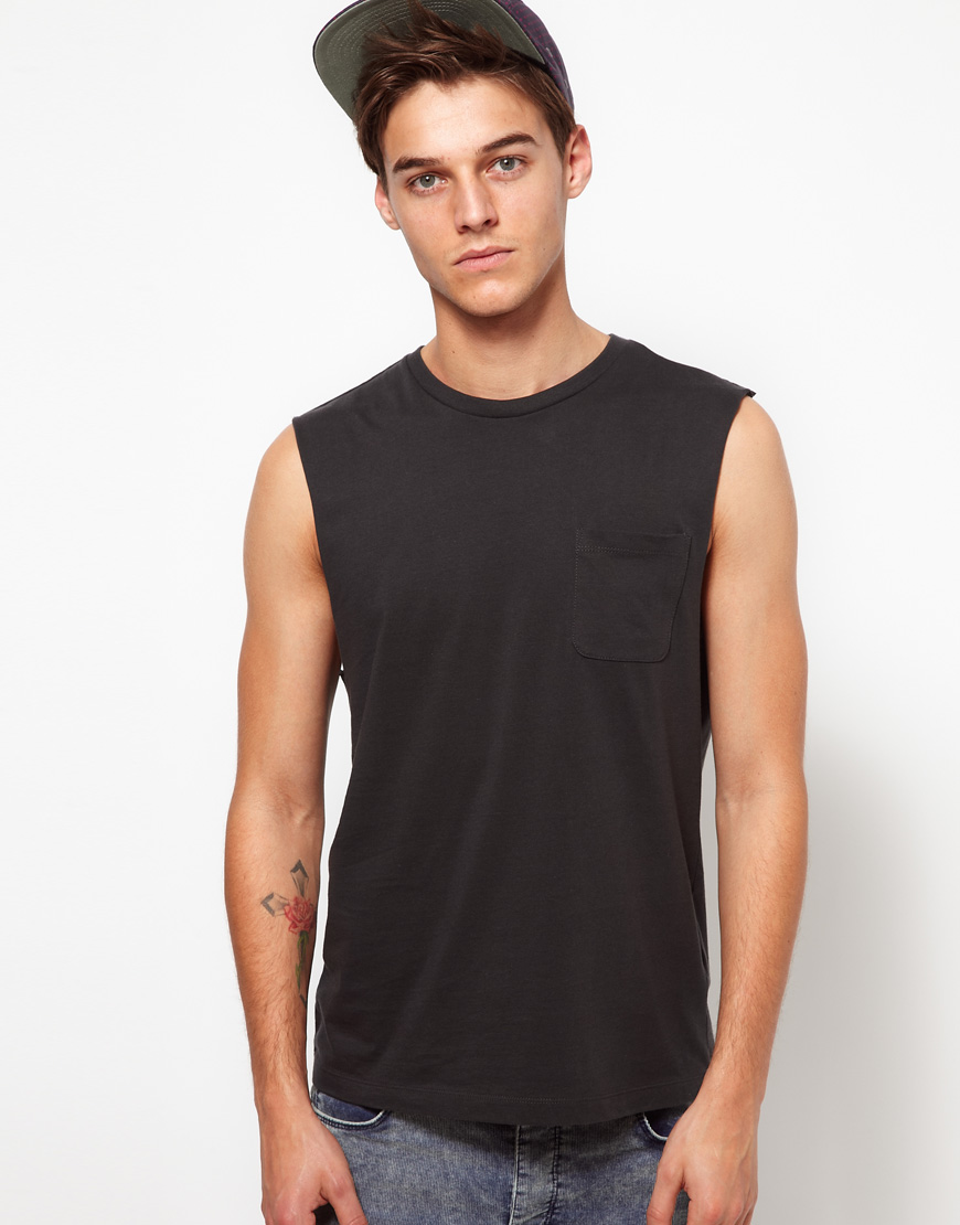 Lyst Nudie Jeans Asos Sleeveless Tshirt With Pocket In