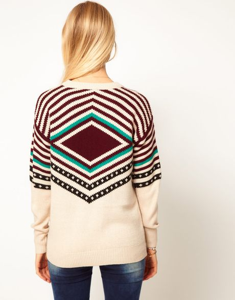 Navajo Clothing Patterns http://www.lyst.com/clothing/asos-jumper-with-navajo-pattern-multi/