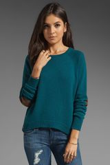 Autumn Cashmere Hi Lo Side Button Sweater - Lyst