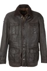 Barbour Barbour Load Leather Jacket Brown in Brown for Men - Lyst