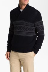 Ben Sherman Fair Isle Shawl Collar Sweater - Lyst