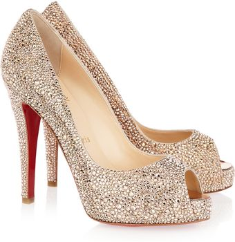 Christian Louboutin Very Richie 120 Swarovski Crystal Suede Pumps - Lyst