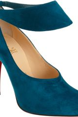Christian Louboutin Suede Miss Zorra in Blue (peacock) - Lyst