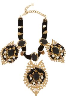 Dolce & Gabbana Goldplated Swarovski Crystal Necklace - Lyst