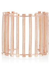 Eddie Borgo Rose Goldplated Crystal Grate Cuff - Lyst